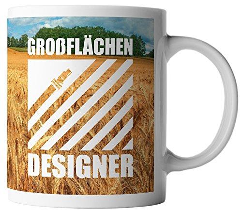 vanVerden Tasse Großflächen Designer Farmer Bauer inkl. Geschenkkarte, Farbe:Weiß/Bunt