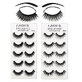 False Eyelashes - 10 Pair Multipack Natural 3D False Eyelashes Natural Look For Makeup Eyelashes Extension.