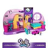 Polly Pocket FRY98 - Und… Klein Zimmer Spielset mit Polly Puppe und Zubehör, Mädchen Spielzeug ab 4 Jahren
