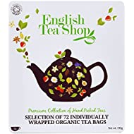 English Tea Shop Organic Luxury Gift Tin Tea Bags, Pack of 72
