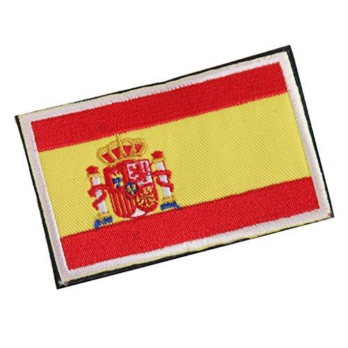 Nicedeal - Parche Bordado con Bandera de España, 8 x 5 cm, Herramientas de Bricolaje