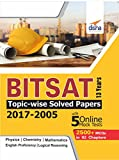 BITSAT 13 Years Topic-Wise Solved Papers (2017-2005) with 5 Online Mock Tests