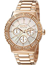 Esprit Damen-Armbanduhr Angelia Analog Quarz Edelstahl EL102062F05