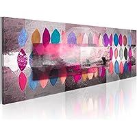 Cuadro en Lienzo 120x40 cm! 1 parte - Impresion en calidad fotografica - Cuadro en lienzo - una pieza Abstraccion 0101-82 120x40 cm B&D XXL