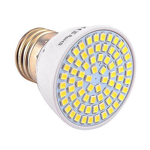 JIALUN-LED E27 72LED 7W 2835SMD 600-700Lm 4000-4500K Proyector LED blanco natural AC...