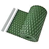 PE-Sichtschutzstreifen Zaunblende Sichtschutz Rattan Balkon- Zaunblende grün