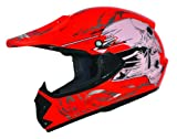 Kids Pro Kinder Crosshelm Rot Größe: S 55-56cm Kinderhelm Kinder Cross BMX MX Enduro Helm