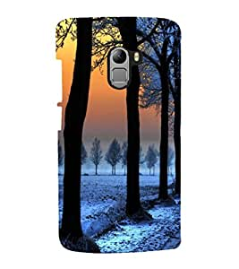 printtech Ice Trees Path Back Case Cover for  Lenovo K4 Note A7010a48, A7010