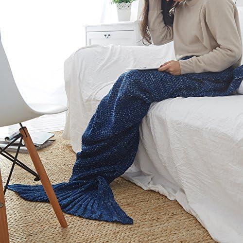 La Sirenetta coperta coperta coperta rilassante divano maglia maglia tv e ,70cmx140cm (bambini), Navy B077ZQNDP7 Parent | Elegante e solenne  | Il Prezzo Ragionevole  | Lavorazione perfetta  19ad9b