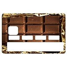 Stickers CB, decoratif, pour carte bancaire, Tablette de chocolat - autocollant de haute qualité, création & fabrication Française