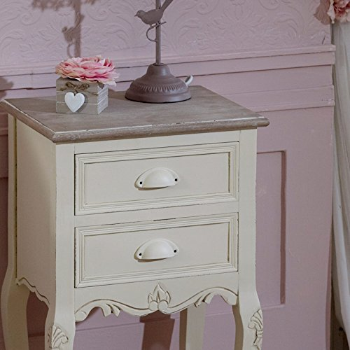 Country Ash Range - 2 Drawer Bedside Table