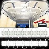 GAMPRO 12V 80-LED Van Innenbeleuchtung Kits, weiße LED-Deckenleuchte Kits für Van, Mini Van, Anhänger, LKW, Wohnmobil, Wohnwagen, Pickup, Ducato, Boot, Sprinter und alle 12V Fahrzeuge (12W 80-LED)