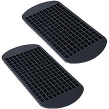 Tesan Moules à glaçons en silicone souple pour 160Mini Glaçons, 1x 1cm Glaçons Bac à glaçons, glaçons–Bac à glaçons–forme de bonbon Set de 2