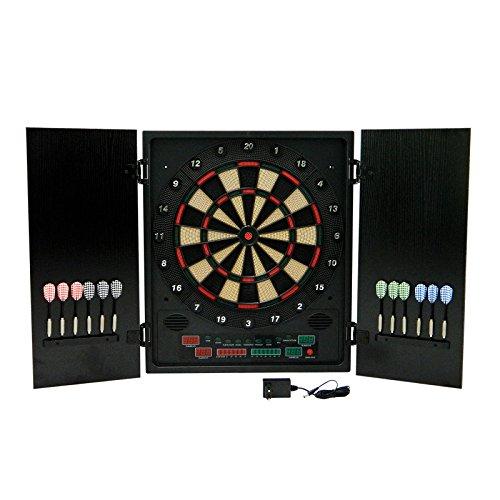 *Best Sporting GLASGOW elektronische Dartscheibe, Dartboard mit 12 Dartpfeilen und Ersatzspitzen, Dartautomat mit LED-Display*