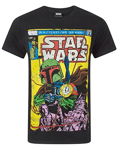 Boba Fett Star Wars Comic Men's T-Shirt (S) - Vanille Fett