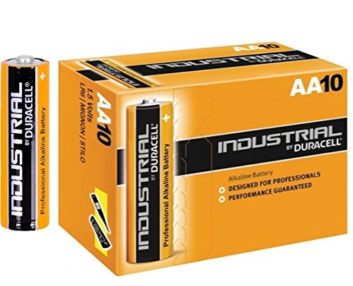 Duracell INDUSTRIAL Battery Alkaline 1.5V AA Ref MN1500 Pack 10, 20, 30, 40, 50 !! (Lot de 10)
