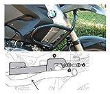 MotorbikeComponents, Protezione serbatoio tubolare Nero - si applica solo con paracilindri originale BMW - BMW R 1200 GS / Adventure 2011