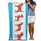 DIMANNU Badetuch Puppy Hund Gemusterte Weiche Strandtuch 78,7x 129,5cm Handtuch mit Einzigartiges Design