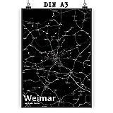 Mr. & Mrs. Panda Poster DIN A3 Stadt Weimar Stadt Black -
