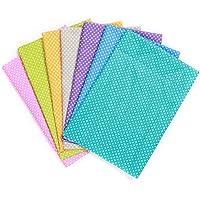 KING DO WAY Lot De 7 Pcs 50cmX50cm Tissu En Coton Couture Artisanat DIY Fabric Sewing Petit Point-Multicolore