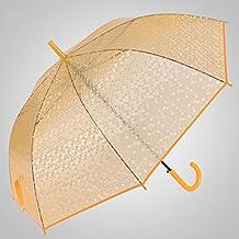 CYJZ® Imitación pescado Escalas Umbrella Ganchos Paraguas de mango largo Paraguas transparente Abrir automáticamente el