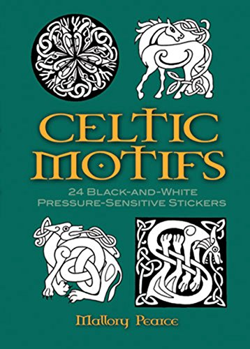 Celtic Motifs: 24 Black-And-White Pressure-Sensitive Stickers par Mallory Pearce