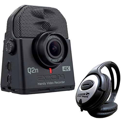 Zoom Q2n-4K Handy Audio- und Video-Recorder Ultra HD + keepdrum Stereo-Kopfhörer (Hd-videorecorder Recorder)