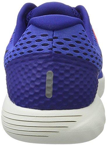 Nike Lunarglide 8, Scarpe Running Uomo Blu (Medium Blau/tief Königsblau/hyper Orange/schwarz)