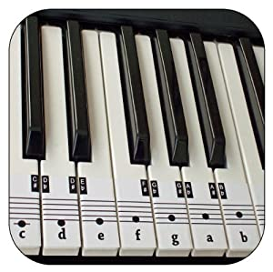 Beginners Piano & Keyboard Music Note Stickers + Free Downloadable Placement Guide