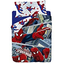 Marvel Spiderman Funda Nórdica, Algodón-Poliéster, Multicolor, Cama 80/95 (Twin), 200.0 x 90.0 x 25.0 cm, 3 Unidades