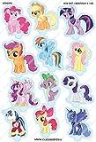 Cakeshop 12 x VORGESCHNITTENE UND ESSBARE My Little Pony Kuchen topper (Tortenaufleger)