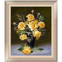 whitelotous 5d diy Diamond pintura de flor de rosa de punto de cruz bordado decoración del hogar 15,7* 18inch