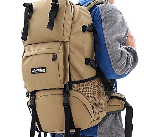 Klettern Taschen outdoor-Touren Männer und Frauen reisen Rucksack Klettern Rucksack Rucksack Khaki