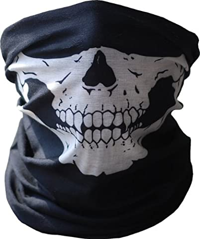 Skull Tubular Mask Balaclava Bandana Motorcycle Scarf Face Neck Warmer