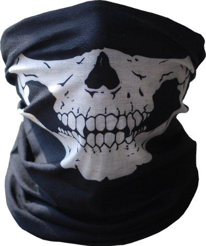 Koedu Máscara de calavera de motocicleta Máscara Stealth Skull Mask Máscara de motocicleta Snowboard Motocicleta Rave Bike Paintball Ski Fiesta de Halloween (white)
