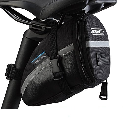 ROSWHEEL 1.2L Bike Satteltasche Outdoor Cycling Mountain Fahrrad Rücksitz Pack Aufbewahrungstasche (Herren Brieftaschen Sattel)