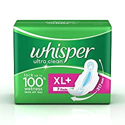Whisper Ultra Sanitary Pads XL Plus wings (7 Count)