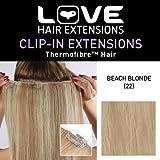 Amor Extensiones de cabello - IPL / K1 / QFC 12/18/22 - termofibra (TM) - Extensiones Barrette único Clipper - Colores 22 - Playa Blonde - 46 cm