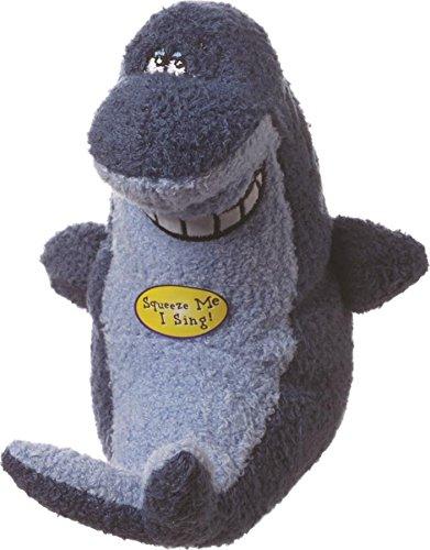Multipet Deedle Dude Hundespielzeug Singender Hai Plüsch, 20,3 cm, Blau -