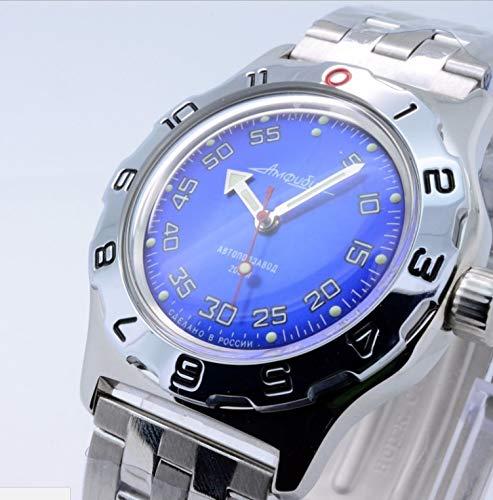 Vostok Amphibia Mens Russian military 200WR Mechanical Self-winding AUTO wrist watch...