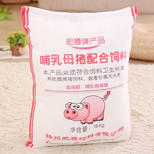 shiyiyi Stofftier , Simulation Schweinefutter Kissen Plüschtiere Kreativer Streich Schlafen mit Kissen Kann gewaschen Werden 35x50 Sau
