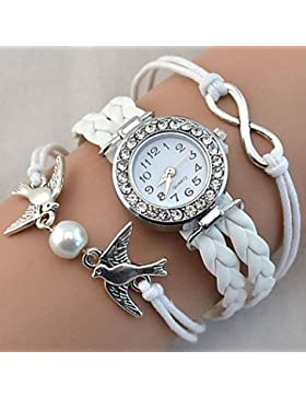 Schöne Uhren, Damen Armbanduhr Quartz / PU Band Vintage / Glanz / Böhmische / Perlen / Cool / Bequem Schwarz /...