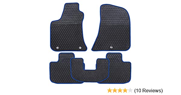 Ucaskin Car Floor Mats Custom Fit for Dodge Charger 2011 2012 2013 2014 2015 2016 2017 2018 2019 Odorless Washable Rubber Foot Carpet Heavy Duty Anti-Slip All Weather Protection Car Floor Liner-Red