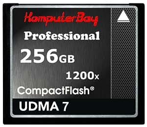 Komputerbay 256GB Professionelle Compact Flash Karte CF 1200X WRITE 140 MB / s lesen 180 MB / s Extreme Speed UDMA 7 RAW 256 GB