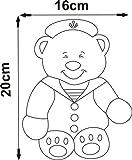 Infantil-para-puerta-de-habitacin-Plaque-20-cm-Escamas-oficial-oso-bearacrylic-Espejo-Verano-Venta