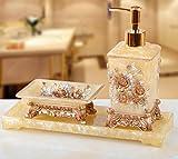 Résine Hand Sanitizer Bouteille Émulsion de luxe Hôtel Bouteille de shampooing + Boîte de savon