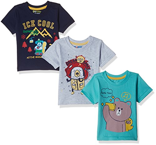 Donuts Baby Boys' T-Shirt (Pack of 3) (400016653144_Assorted_18M)