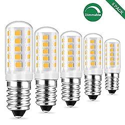 E14 LED Dimmbar Lampe Warmweiss, 3W Ersetzt 25W - 40w Halogen Lampen, Birne Leuchtmittel glühbirne, Warmweiß 2700K, 410LM AC 230V, 360°Lichtwinkel, 5er Pack, Viaus