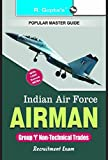 Indian Air Force: Airmen Group 'Y' Trades Exam Guide (Popular Master Guide)