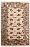 Nain Trading Pakistan Buchara 3ply 210x139 Orientteppich Teppich Dunkelbraun/Rosa Handgeknüpft Pakistan